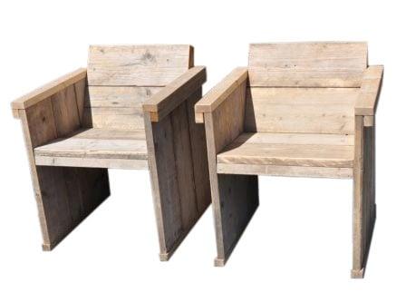 Design Stoelen Gebruikt.Eettafel Stoel Met Een Schuine Rug Leuning Van Oud Gebruikt