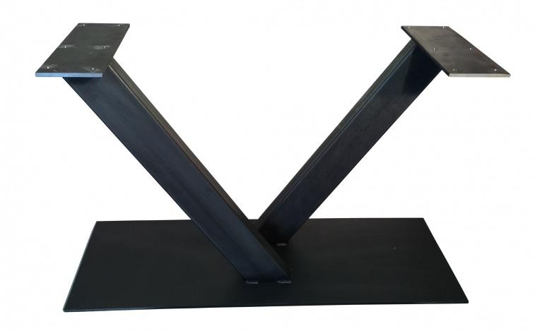 Stalen tafel onderstel model V koker 12x6cm