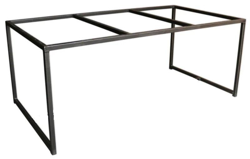 Stalen tafel onderstel Willem buisframe koker 4x4cm L230cmxB80cmxH74cm  (voorraad magazijn artikel)
