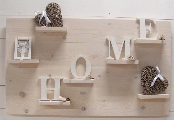 Wanddecoratiebord steigerhout whitewash afm. L135xH78cm (voorraad)