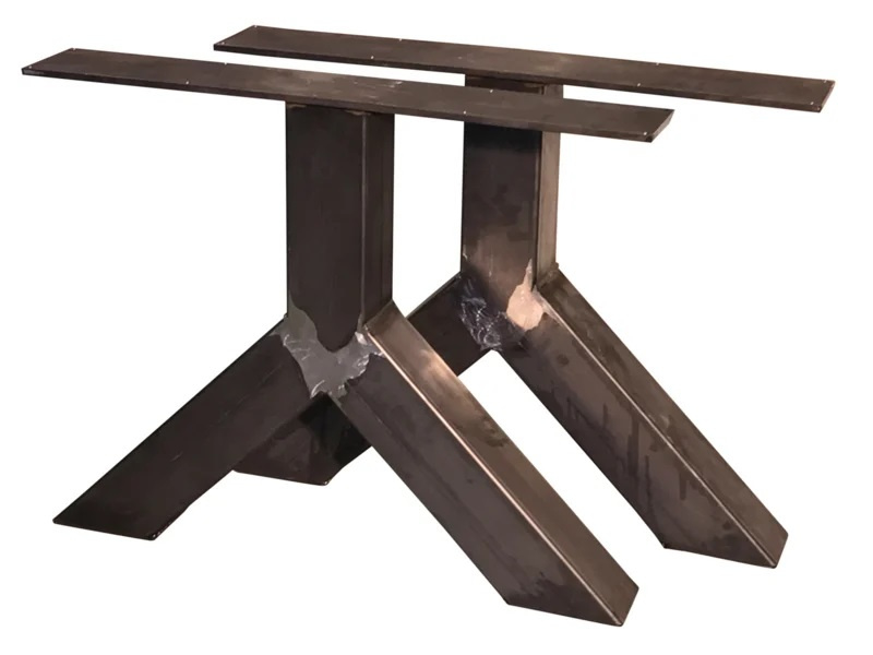Stalen tafel onderstel model Y koker 12x12cm (STRIP) B70cm x H65cm (voorraad magazijn artikel)