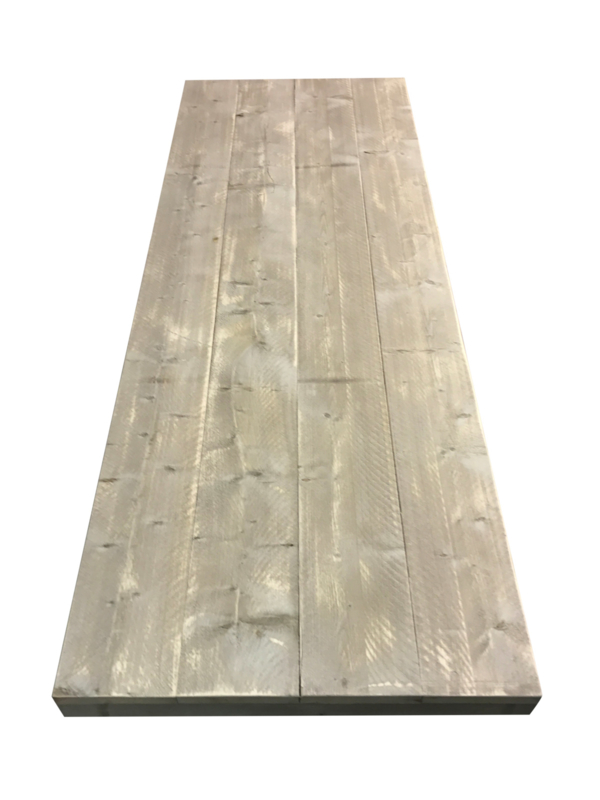 Oud steigerhouten tafelblad recht