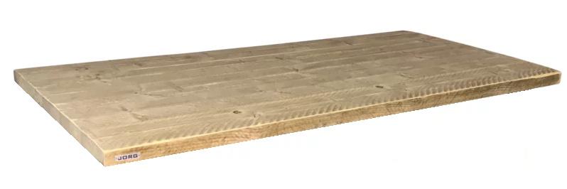 Tafel blad oude dikke steigerplanken 120x80cm (voorraad magazijn artikel)