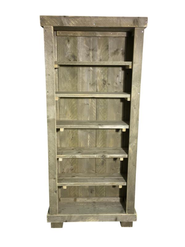 Boekenkast steigerhout H200xB90xD30cm