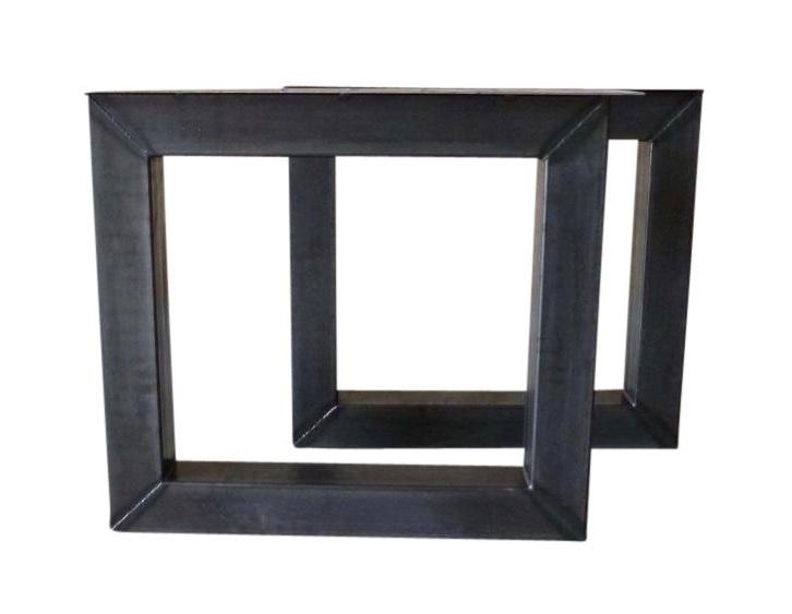Stalen salontafel onderstel model vierkant koker 10x10cm B90cm x H40,5cm  (voorraad magazijn artikel)