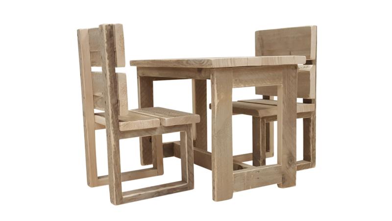 Doe-Het-Zelf bouwpakket kinderstoel van steigerhout