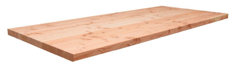 Douglas tafelblad recht dikte 4,5cm