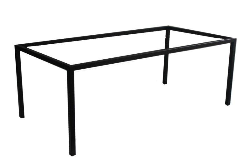 Stalen tafel onderstel Jelle buisframe koker 4x4cm L199cmxB89cmxH74cm  (voorraad magazijn artikel)
