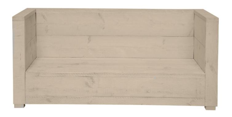 Loungebank 2- zits kleur zand 140cm (voorraad magazijn artikel)