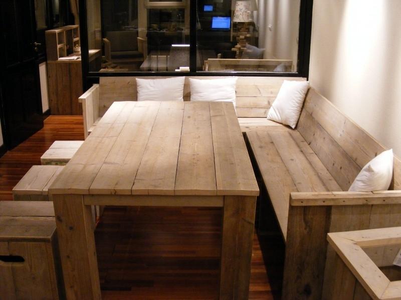 Wonderbaar Bank met zij en rugleuning gemaakt van steigerhout | Bankjes MU-95