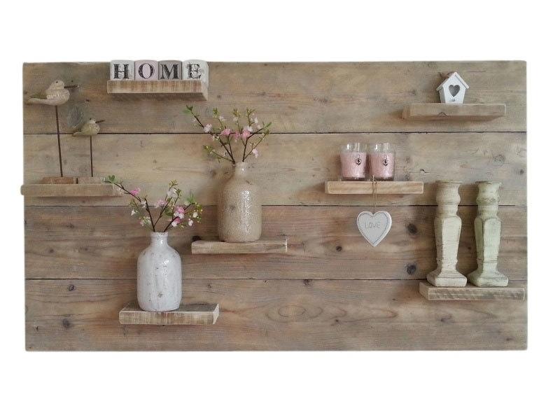 Doe-Het-Zelf bouwpakket wandbord van oud of nieuw steigerhout