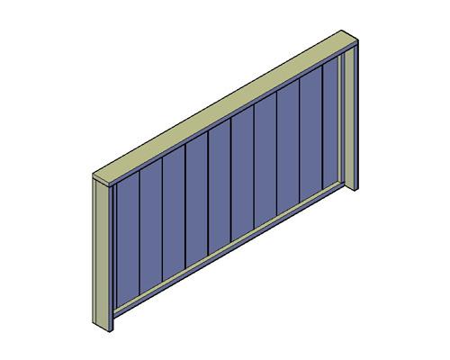 Doe-Het-Zelf bouwpakket hoofdeind bed-hoofdeind of kopschot bed van oud of nieuw steigerhout