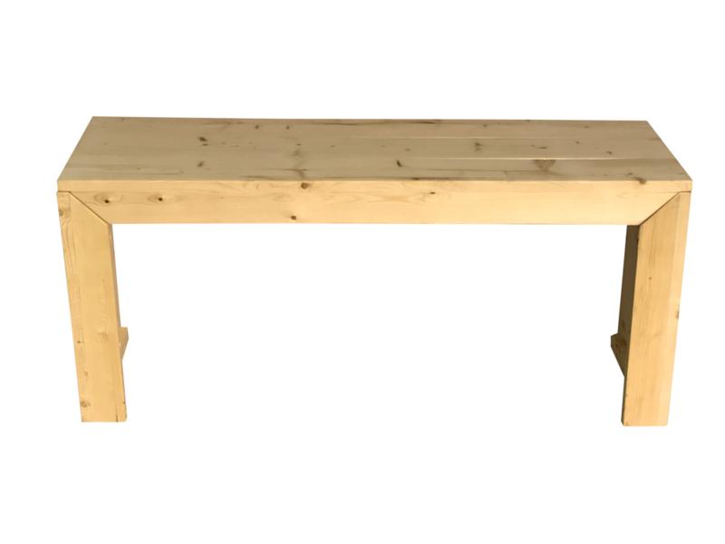 Bureautafel van nieuw steigerhout afm: L140xB45xH63cm (voorraad magazijn artikel)