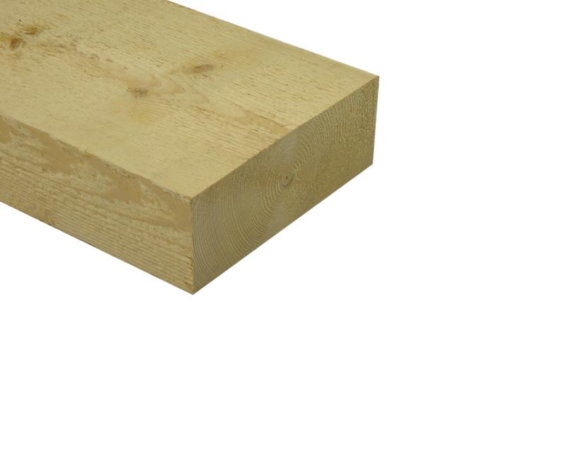 Balk vuren c ruw 75 x 200 mm bezaagd prijs per balk (lengtes 4800)