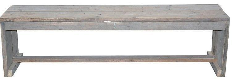 Doe-Het-Zelf bouwpakket  bank zonder zij en rugleuning van oud of nieuw steigerhout