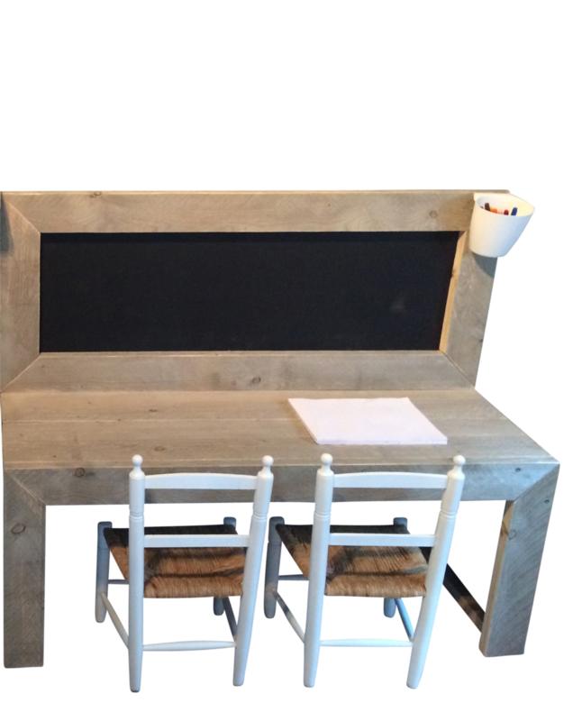Doe-Het-Zelf bouwpakket kinderspeeltafel met krijtbord steigerhout