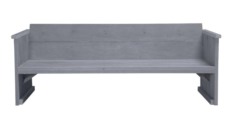Loungebank 3- zits kleur beton grijs