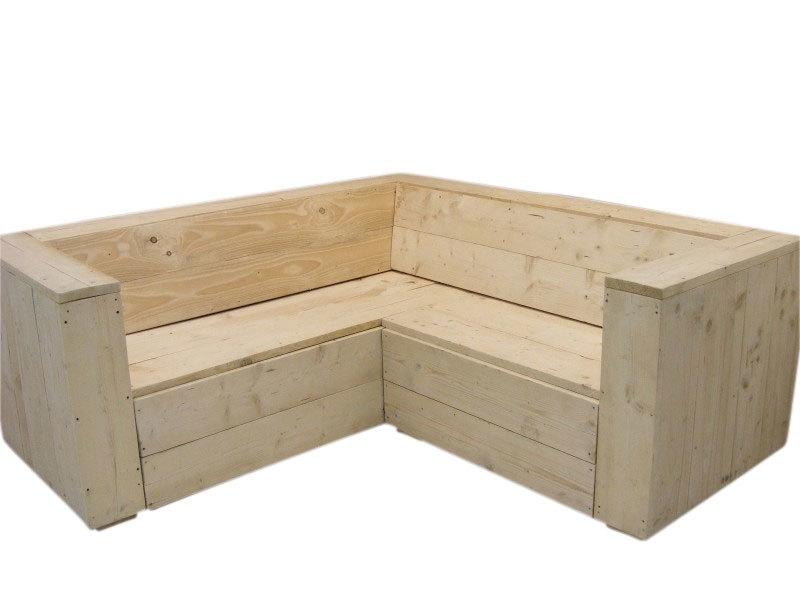 Lounge hoekbank gemaakt van nieuw steigerhout geschuurd (lhb)