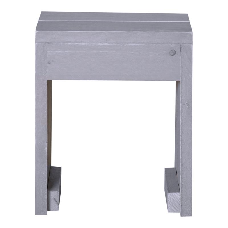 Kruk steigerhout beton grijs