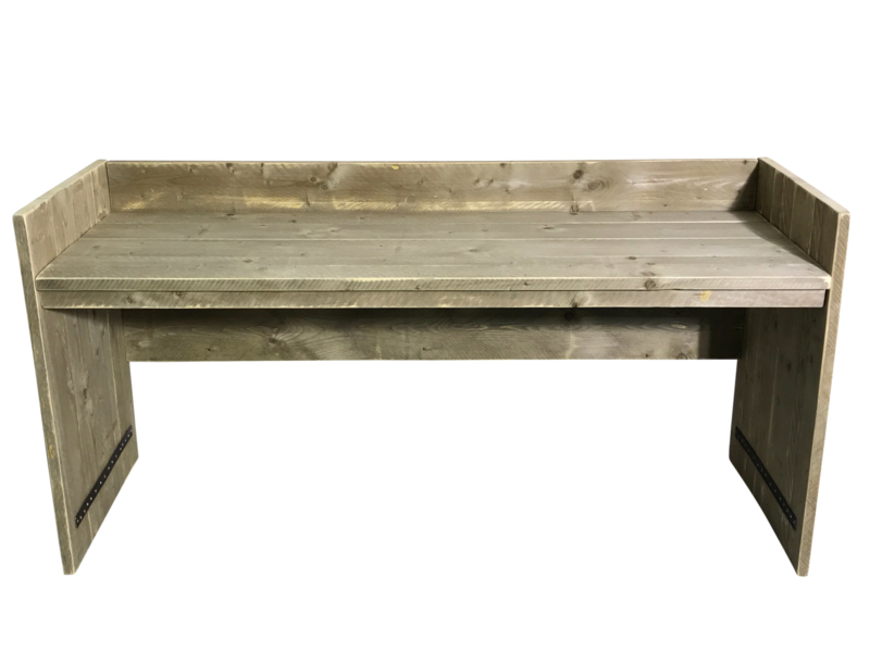 Plank Met Opstaande Rand.Bureau Tafel Oud Steigerhout Met Opstaande Rand