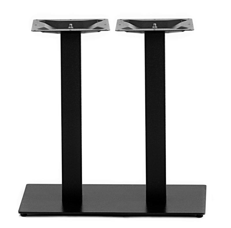 Horeca tafelonderstel vierkant dubbel Gietijzer zwart model Gastro dubbel