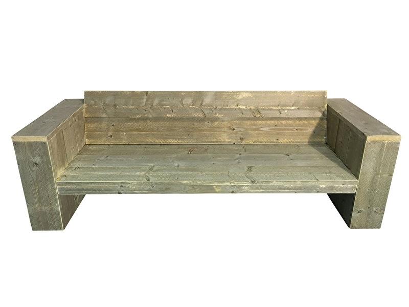 Lounge bank  steigerhout schuine rugleuning