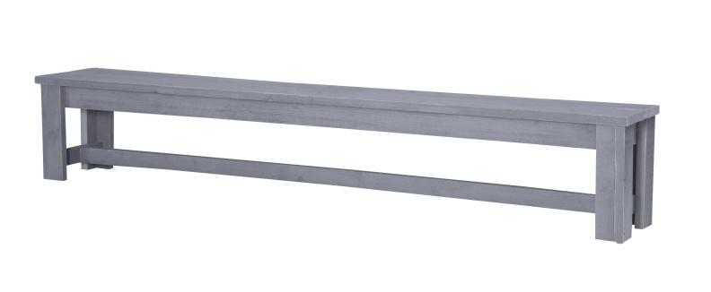 Kasteelbank steigerhout kleur beton grijs