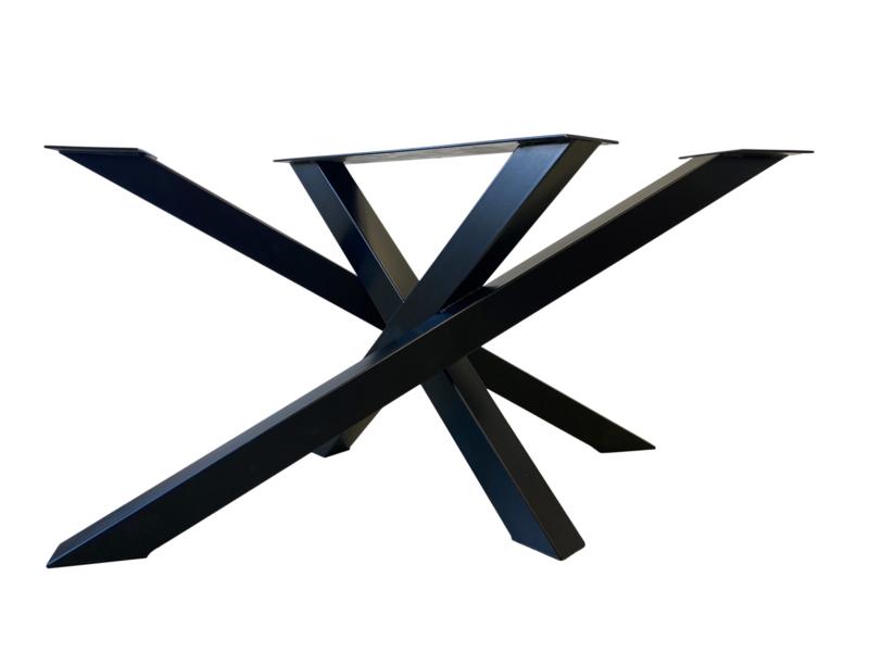 Stalen tafel onderstel model Twist koker 8x8cm (lang)