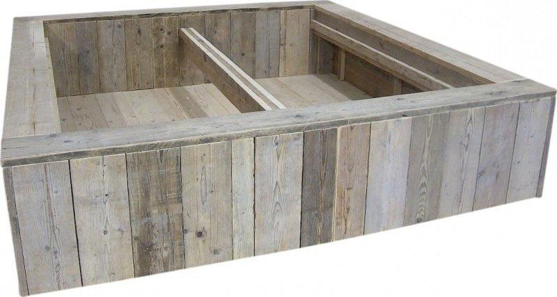 Tweepersoons blokbed nieuw steigerhout afm: L200xB180cm (voorraad magazijn artikel)