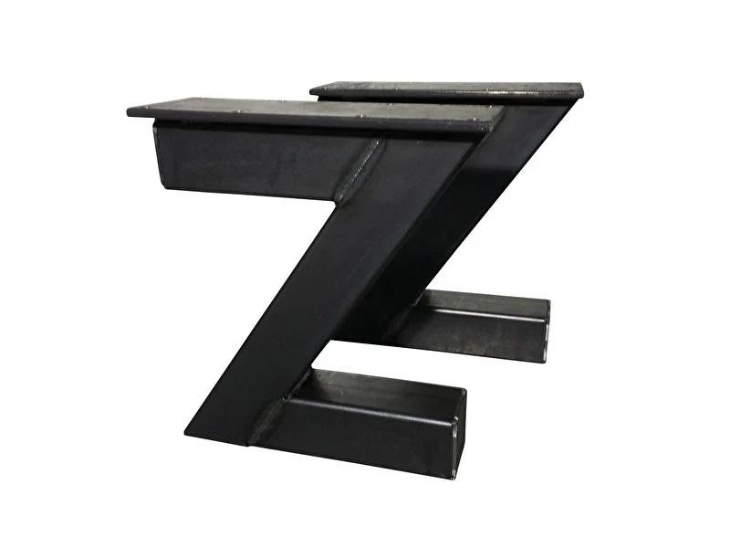 Stalen onderstel model Z bank koker 10x10cm B50cm x H41cm (voorraad magazijn artikel)