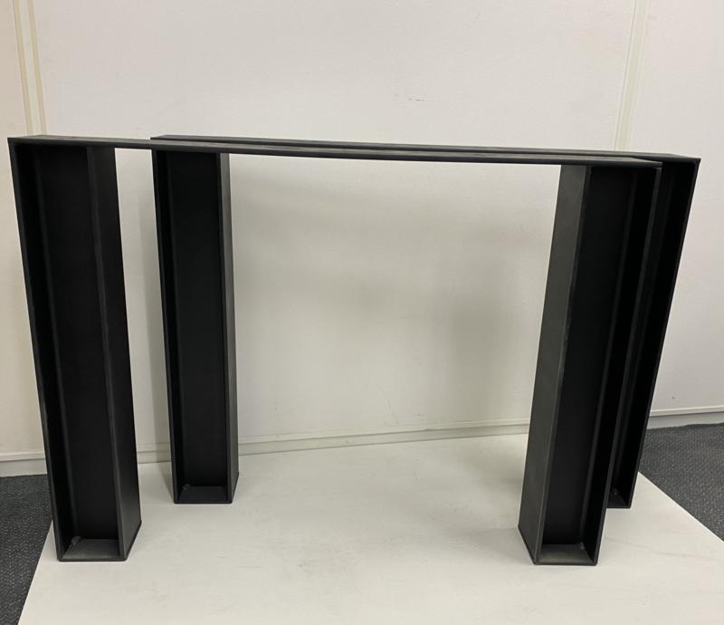 Stalen tafel onderstel H profiel koker 10x10  (STRIP) B95cm x H71cm (voorraad magazijn artikel)