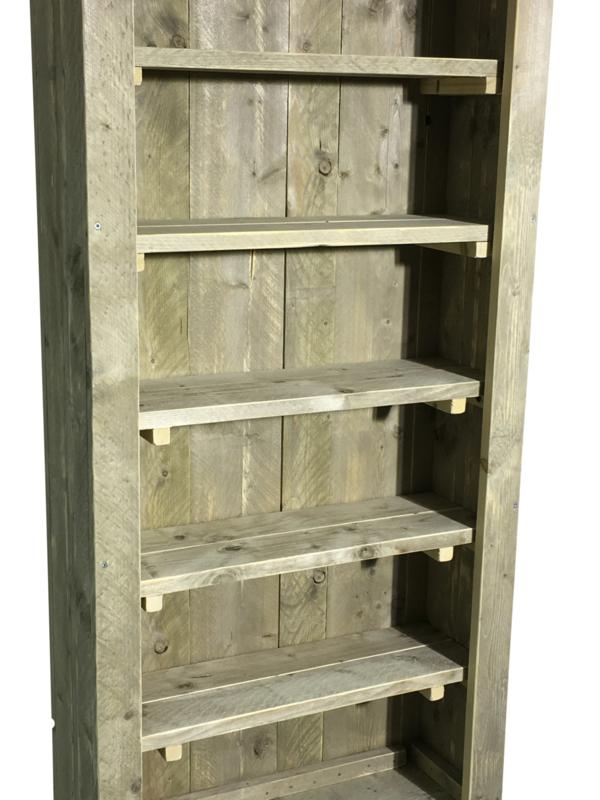 Wonderlijk Boekenkasten van steigerhout | JORG`S Houten Meubelen VL-44