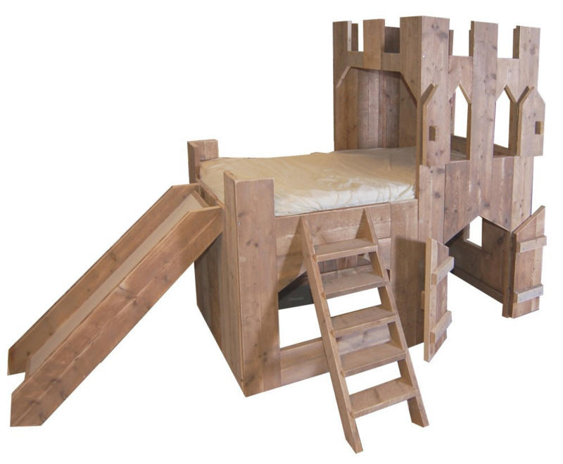 Kasteelbed steigerhout