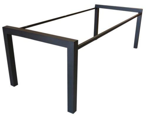Stalen tafel onderstel buisframe N koker 8x8cm L181cmxB84,5cmxH77cm tafelbladdikte 3,5cm (voorraad magazijn artikel)