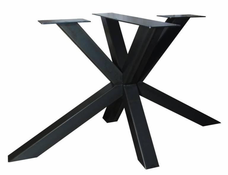 Stalen tafel onderstel model dubbele X koker 8x8cm (lang)