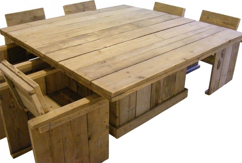 Steigerhouten Vierkante Salontafel.Tafel Van Steigerhout Vierkant Model Assortiment Vierkante