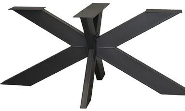 Stalen onderstel 3D gepoedercoat (knock-down) koker 15x5cm (lang140)