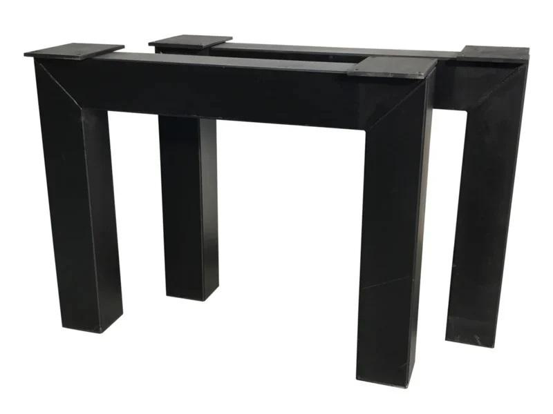 Stalen tafel onderstel model N koker 10x10cm B90cm x H71cm (voorraad magazijn artikel)