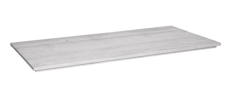 Tafelblad steigerhout Ravenna kleur schelp wit