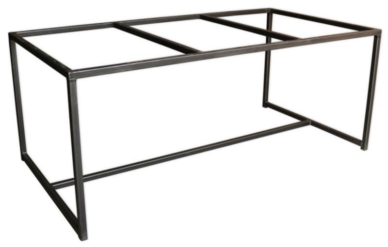 Stalen tafel onderstel Peter buisframe koker 4x4cm L220cmxB70cmxH61cm  (voorraad magazijn artikel)