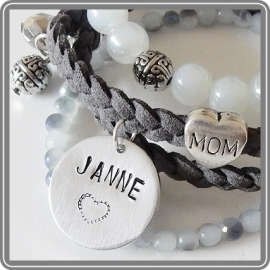 Armbandenset Mom 2 - met naambedel
