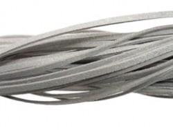 Suede veter grijs - per meter