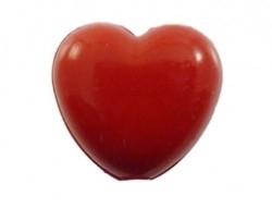 Kunststof hartje rood