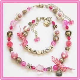 Sieradenset met naam - Pink