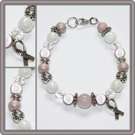 "Armband Pink Ribbon ""Hope"""