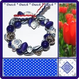 Armband Delftsblauw Dutch III
