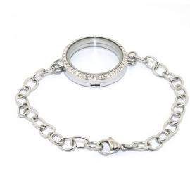 Floating locket armband - kristal