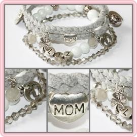 Mama armband set  - met letterkralen