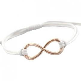 Armbandje infinity - wit