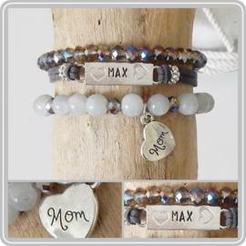 Mama armband set - met naamplaatje
